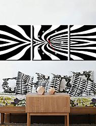 """12 """"-24"""" Paese della banda di stile Orologio da parete in tela 3pcs"""