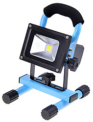 KX-913 Rechargeable Portable 10W 1000lm 6000K LED White Light Flood Lamp - Blue (110~240V / DC 12V / 24V)