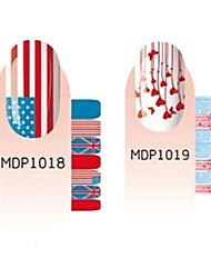 28pcs Scrawl Cartoon Nail Art Stickers environnement No.2 enceinte (2 Patterns, 2x12PCS)
