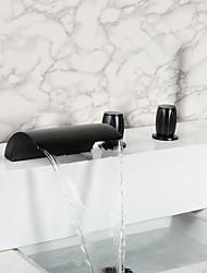 Vintage Style Öl-rieb Bronze Wasserfall Badezimmer Badewanne Wasserhahn mit Handbrause