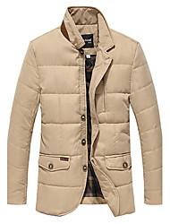 JNE·FOX Men's Comfortable Thicken Padded Coat(Khaki)