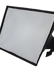 20 x 30 centímetros softbox difusor flash portátil para 600EX 580EX 430EX SB-910 SB-900 SB-700 HVL-F58AM F42AM (preto)