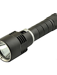LT Single-Mode del CREE L2 Super Bright LED Torcia subacquea (980lm, 1x18650, Nero)