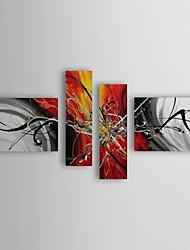 Dipinta a mano Astratto ogni Forma Quattro Pannelli Tela Hang-Dipinto ad olio For Decorazioni per la casa
