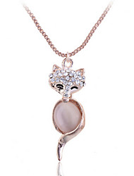 Women's Alloy Necklace Birthday/Gift/Party/Daily/Outdoor Opal