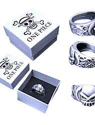 Jewelry Inspired by One Piece Portgas D. Ace Anime Cosplay Accessories Ring Silver Alloy Male