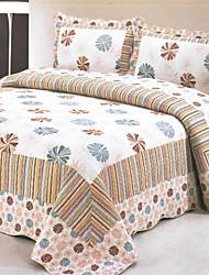 3-teiliges Geller European Style Print Königin Velvet Quilt