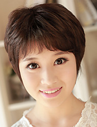 JUHANG Wig Middle-Aged Hair Style In Light Brown