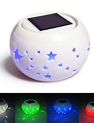 Star Pattern Hollowed-Out LED Solar Powered Garden Light -Solar Table Light- Solar Small Night Light In Jar Design