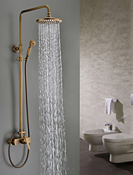 Sprinkle® by Lightinthebox - Antique Brass Tub Shower Faucet with 8 inch Shower Head + Hand Shower