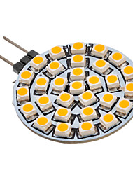 2W G4 / GU4(MR11) Spot LED 30 SMD 3528 90-110 lm Blanc Chaud AC 12 V