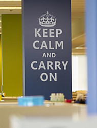 Keep Calm And Carry On Words Wall Stickers