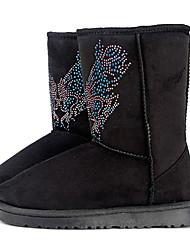 Frauen Mittler-Kalb Strass Winter Boots