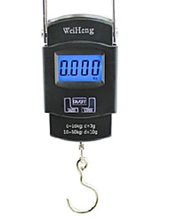 Portable Handheld 45Kg Peso On / Off TARE UNITA Elettronica Digitale Hanging Scale Nero