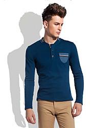 Herren V-Ausschnitt Kurzarm-T-Shirt