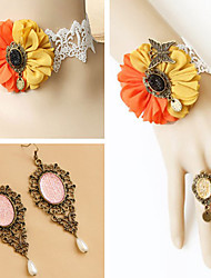 Handmade Orange and Yellow Mixed Princess Lolita Accessories Set