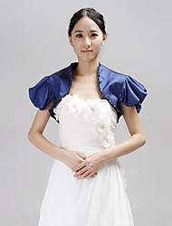 Personalized Short Sleeve Taffeta Wedding/Party Evening Jackets/Wraps With Bead(More Colors) Bolero Shrug
