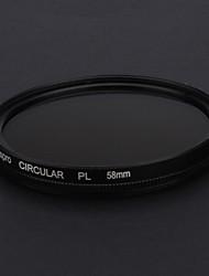 58mm CPL filtro para la lente de Canon Nikon