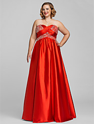 Dress - Ruby Plus Sizes / Petite A-line / Princess Sweetheart / Strapless Floor-length Charmeuse