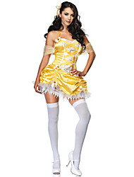 Sexy Queen Yellow Dress Women's Halloween Costume