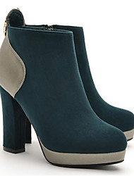 MLKL New Cool Metal Zipper High Heels(Green)