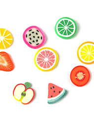 3D Fimo Slice Cartoon Fresh Fruit Face Nail Art Decorations