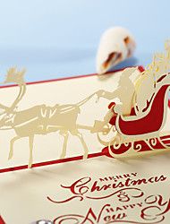 """trois-dimensionnelle """"vient ici santa claus"""" christmas card (plus de couleurs)"""