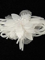 Elegant Satin With Organza Women's Corsage Brooch