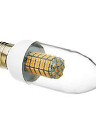 6W E26/E27 LED лампы в форме свечи 102 SMD 3528 520-550 lm Тёплый белый AC 220-240 V