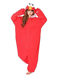Kigurumi Pajamas Monster / Cartoon Leotard/Onesie Festival/Holiday Animal Sleepwear Halloween Red Solid Polar Fleece Kigurumi For Unisex