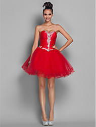A-Line Princess Sweetheart Short / Mini Organza Tulle Cocktail Party Homecoming Dress with Beading by TS Couture®