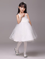 Formal Evening / Wedding Party Dress - Ivory A-line Sweetheart Knee-length Satin / Tulle