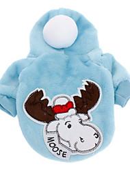 Собаки Плащи / Толстовки Красный / Синий Одежда для собак Зима Рождество Рождество