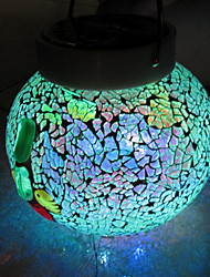Dainty Chic Mosaic LED Solar Powered Garden Light -Solar Table Light- Solar Small Night Light In Jar Design