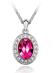Graceful Alloy With Rhinestone&Crystal Glass Women's Necklace(More Colors)
