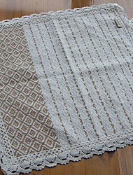 Modern Style 100% Cotton Beige Plaid Square Chair Pad