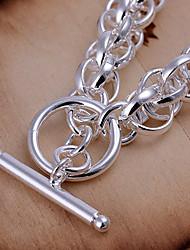 полностью круг серебряный браслет