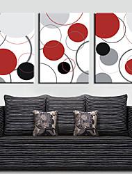Натянутым холстом абстрактный искусства Красочные круги Набор из 3
