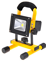 KX-913 Rechargeable Portable 10W 1000lm 6000K LED White Light Flood Lamp - Yellow (110~240V / DC 12V / 24V)