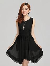 Women's Dresses , Chiffon Casual HANMEINEN