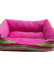 Cozy Stripes chaud Motif canapé-lit de style pour animaux de compagnie chiens (couleurs assorties)