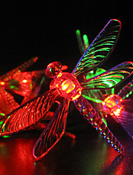 Solar Garden Lights 30 Multi Colorful Dragonfly LED Lights