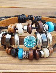charme en cuir bracelets bracelet en cuir perlé