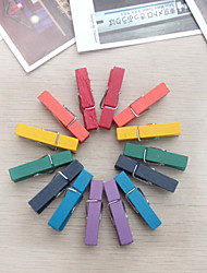 décoration de mariage en bois mini-clip -set de 14 (couleur aléatoire)