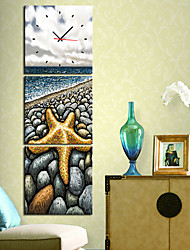 """12 """"-24"""" Country Style Star Orologio da parete in tela 3pcs"""