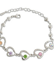 Alloy único com braceletes Femininos strass (mais cores)