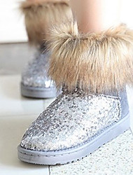 Frauen Paillette winterfest Ankle Boots