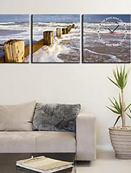 """12 """"-24"""" Country Style Mare Orologio da parete in tela 3pcs"""