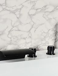 Weinlese-Öl eingerieben Bronze Badezimmer verbreitet Badewanne Wasserhahn mit Handbrause