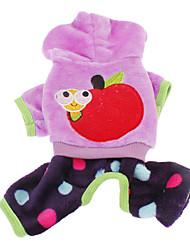 Winter Fleece Hoodies / Pants for Dogs Purple L / M / S / XL / XXL